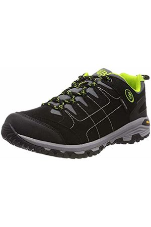 Bruetting Men's Mount Shasta Low Rise Hiking Shoes, Schwarz/Grau/Lemon