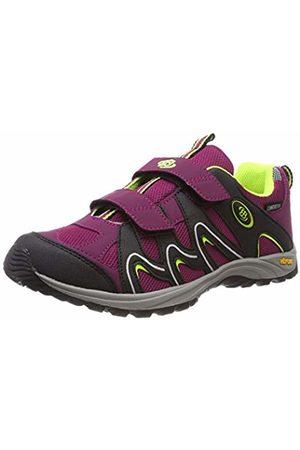 Bruetting Women Boots - Women's Vision V Kids Low Rise Hiking Shoes, Bordeaux/Schwarz/Lemon