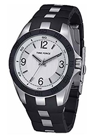 Time Force Mens Analogue Quartz Watch with Rubber Strap TF4036L02