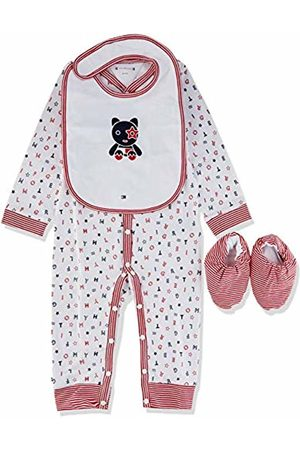 Tommy Hilfiger Baby Preppy Coverall Giftbox Clothing Set, (Apple /Multi 600)