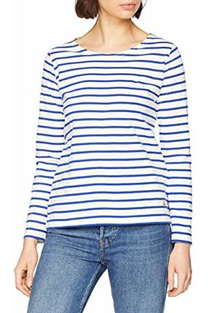 Armor.lux Women's Marinière \plozévet\ Femme Long Sleeve Top, Blanc/Etoile Dw5