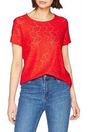 JDY Women's tag S/s Lace Top JRS Rpt2 Noos T-Shirt, Fiery