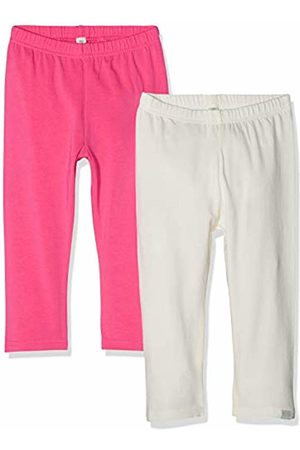 Playshoes Girl's Leggings Capri -Natur Im 2er Pack (Sortiert 999)