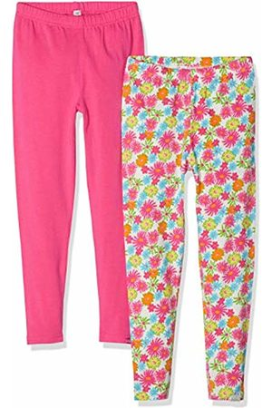 Playshoes Girl's Leggings Blumen Allover Und Pink Im 2er Pack