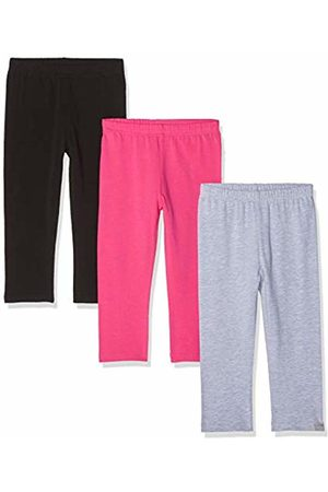 Playshoes Girl's Leggings Capri Schwarz-Pink-grau Im 3er Pack
