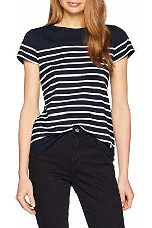 Armor.lux Women's Marinière \etel\ Héritage Femme T-Shirt, Rich Navy/Blanc Bi8
