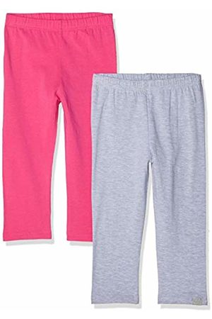 Playshoes Girl's Leggings Capri -grau Im 2er Pack (Sortiert 999)