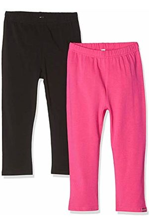 Playshoes Girl's Leggings Capri Schwarz-Pink Im 2er Pack