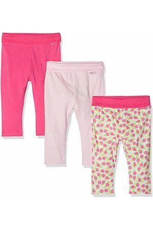 Playshoes Baby-Leggings -Rosen-rosa Im 3er Pack (Sortiert 999)