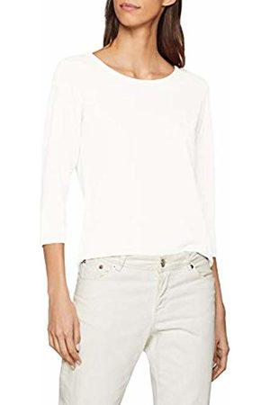 JDY Women's SAGA 3/4 Zip TOP JRS NOOS Longsleeve T-Shirt, Cloud Dancer