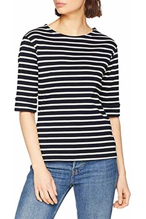 Armor.lux Women's Marinière \cancale\ Femme T-Shirt, Rich Navy/Nature Bi5