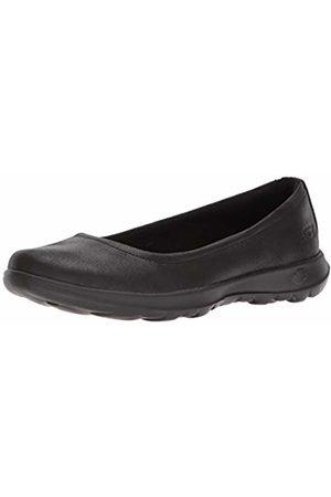 Skechers Women's Go Walk lite - 15395 Ballet Flat ( BBK)
