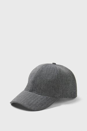 Zara HERRINGBONE TEXTURED CAP