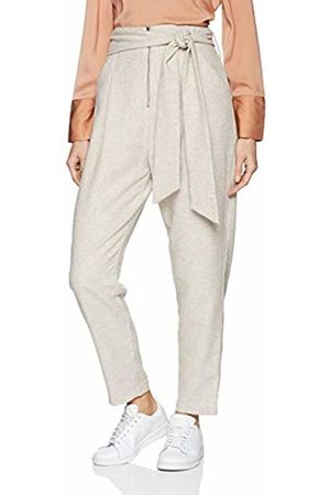 Lost Ink Women's PEG Trouser with Zip Front and TIE Waist