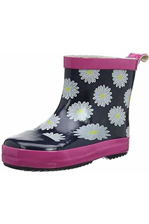 Playshoes GmbH Unisex Kids' Girls Short Wellies Daisies Wellington Boots, (Navy/ 372)