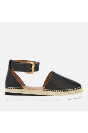 Chloé Women's Glyn Leather Espadrille Flat Sandals