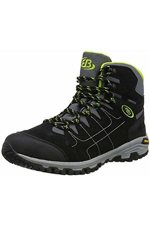 Bruetting Men's Mount Shasta High Rise Hiking Shoes, Schwarz/Grau/Lemon