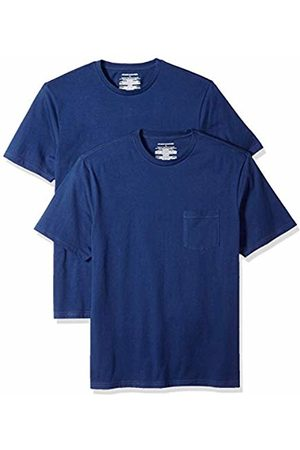 Amazon Essentials 2-Pack Regular-fit Crew Pocket T-Shirt ( Blu)