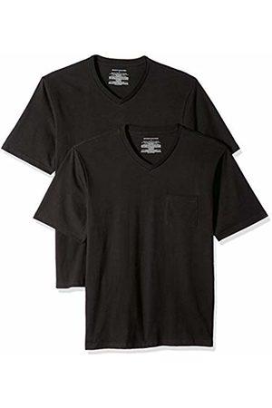 Amazon Essentials 2-Pack Regular-fit V-Neck Pocket T-Shirt ( Bla)