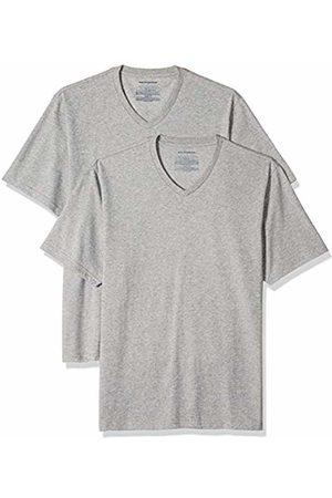 Amazon Essentials 2-Pack Regular-fit V-Neck T-Shirt (Heather HEA)