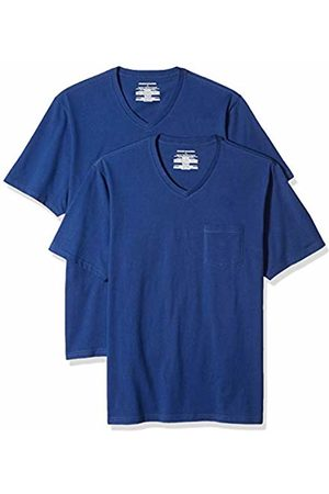 Amazon Essentials 2-Pack Regular-fit V-Neck Pocket T-Shirt ( Blu)
