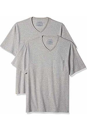 Amazon Essentials 2-Pack Regular-fit V-Neck Pocket T-Shirt (Heather HEA)