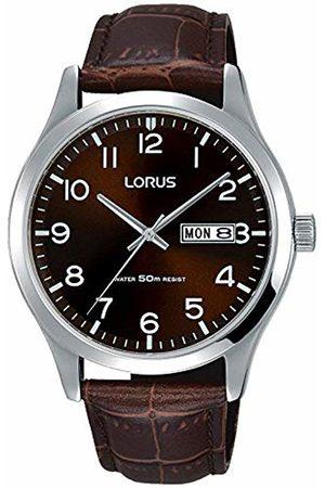 Lorus Mens Analogue Quartz Watch with Leather Strap RXN41DX9