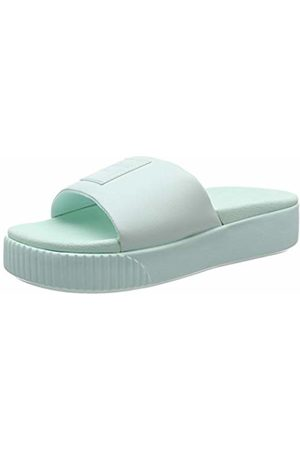 Puma Women's Platform Slide WNS Beach & Pool Shoes, Fair Aqua