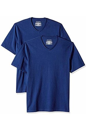 Amazon Essentials 2-Pack Regular-fit V-Neck T-Shirt ( Blu)