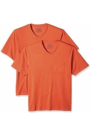 Amazon Essentials 2-Pack Regular-fit V-Neck Pocket T-Shirt ( Heather Ora)