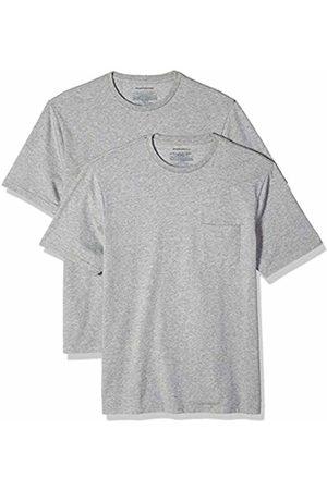 Amazon Essentials 2-Pack Regular-fit Crew Pocket T-Shirt (Heather HEA)