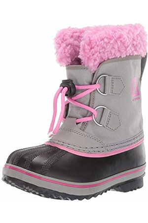 sorel Unisex Kids Yoot Pac Nylon Snow Boots, (Chrome , Orchid)