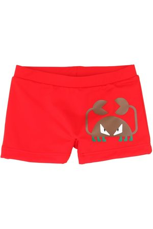 Fendi Crab Print Lycra Swim Shorts