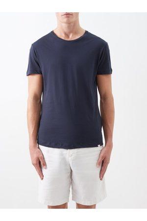 Orlebar Brown Men Short Sleeve - Ob-t Cotton-jersey T-shirt - Mens - Navy