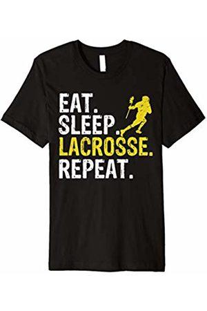 Eat Sleep Lacrosse Repeat Tee Shirts Eat Sleep Lacrosse Repeat Sports Team Game Gift T-Shirt