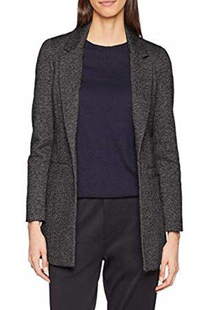 Noisy May Women's Nmreka L/s Long Blazer Noos Suit Jacket, (Dark Melange)