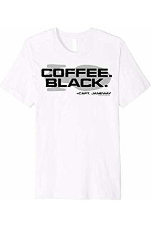 Star Trek Voyager Coffee Black Capt. Janeway Graphic T-Shirt