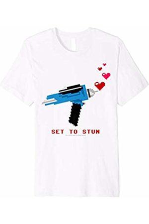 Star Trek Original Series Pixel Phaser Heart Stun T-Shirt