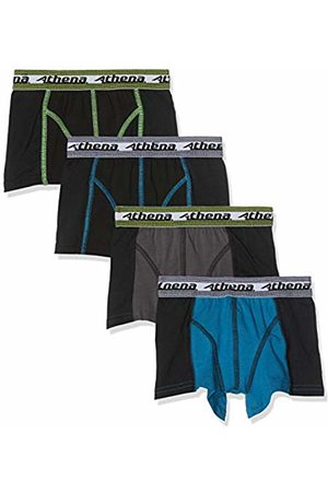 ATHENA Boy's Neo Sports Underwear, (Anthracite Turquoise/Noir 9000)