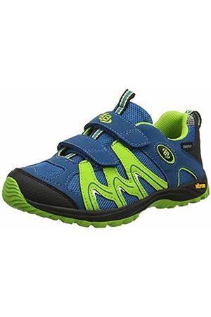 Bruetting Unisex Vision V Kids Low Rise Hiking Shoes, Petrol/Lemon/Schwarz