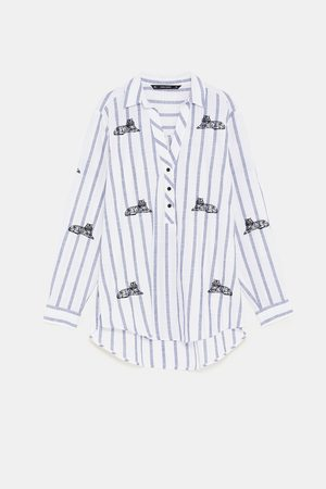 Zara SHIRT WITH EMBROIDERY