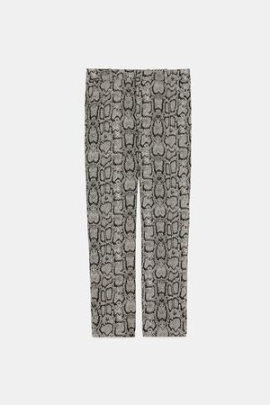 03dd4ef8 Zara versace-print women's trousers & jeans, compare prices and buy online