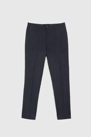 Zara Micro-dot suit trousers