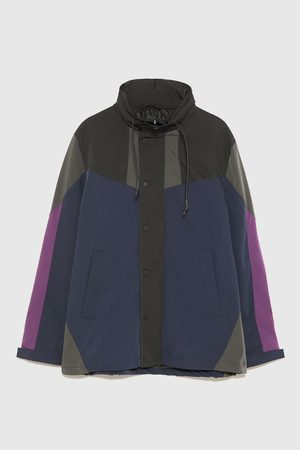 Zara COLOUR BLOCK TECHNICAL PARKA