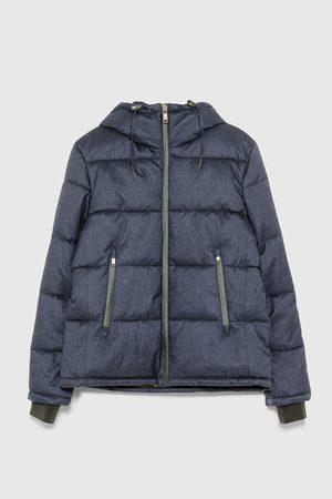 Zara Men Winter Jackets - Puffer jacket with hood