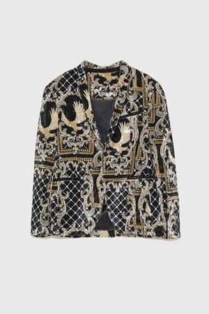 Zara Men Blazers - Printed velvet blazer