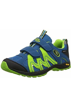 Bruetting Unisex Adults' Vision V Kids Low Rise Hiking Shoes, Petrol/Lemon/Schwarz