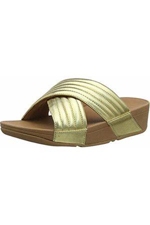FitFlop Women's Padded Lulu Slide-Pu Open Toe Sandals