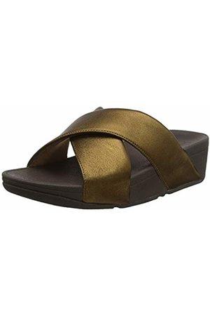 FitFlop Women's LULU Cross Slide Sandals-Leather Open Toe