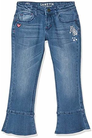 Sanetta Girl's Trousers Denim Jeans, (Fancy 9576)